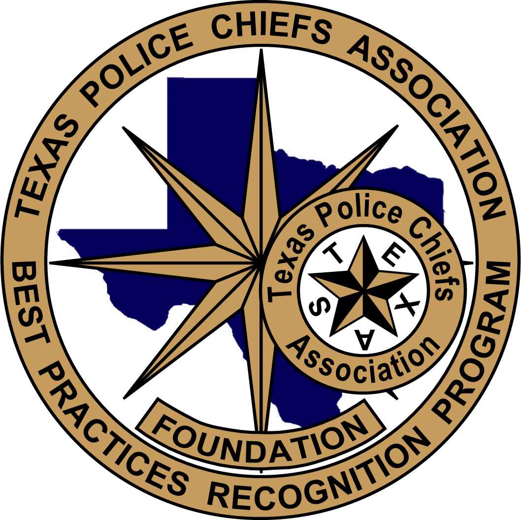 "Seal with the text ""Texas Police Chiefs Association Foundation Best Practices Recognition Program"