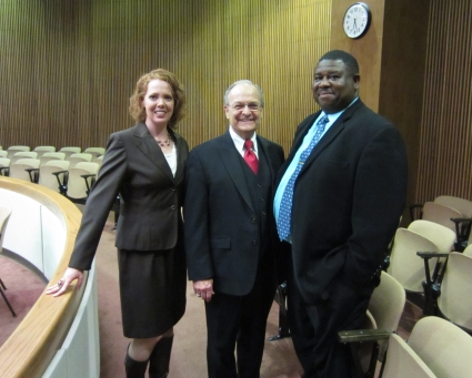 Kristie Dempsey, Judge Sterling Lacy, and Tony Dollarhide