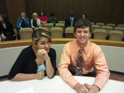 Teen Attorneys Olivia Landrum and Charlie Goins
