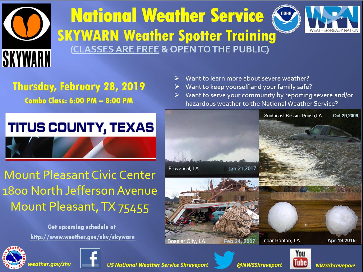 Titus County Skywarn Flyer
