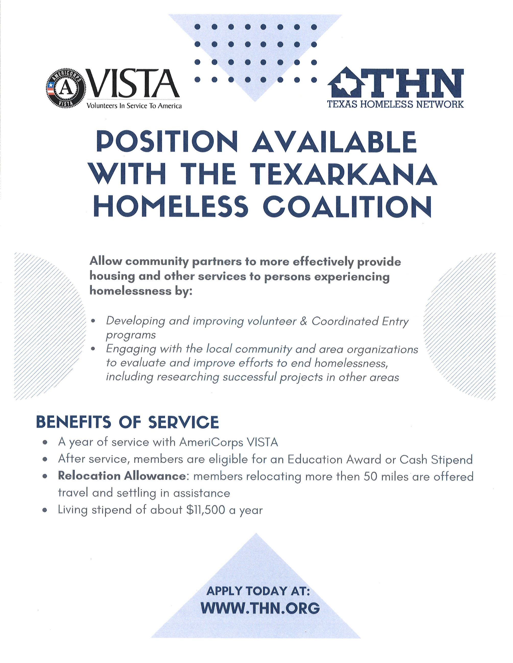 Texarkana Homeless Coalition Application