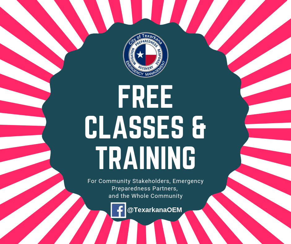 Free Classes and Training for Emergency Preparedness