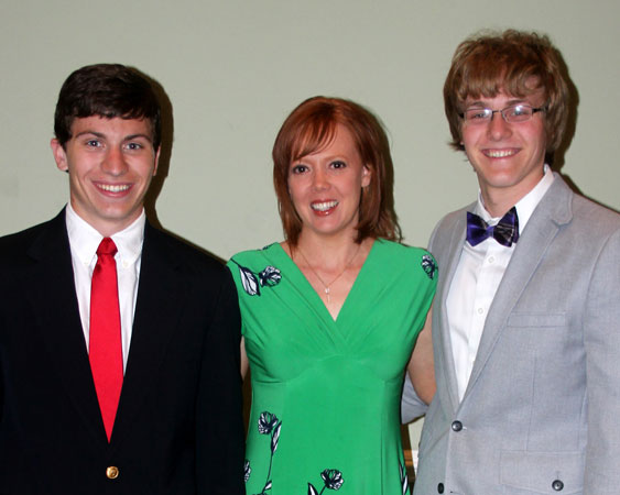 Steve Crenshaw, Kristie Dempsey, Jacob Hill - 2013 Scholarship recipients